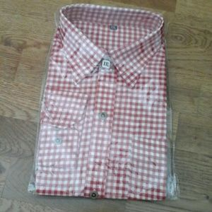 XXL CHECKED  LONG  sleeve   button  down  shirt